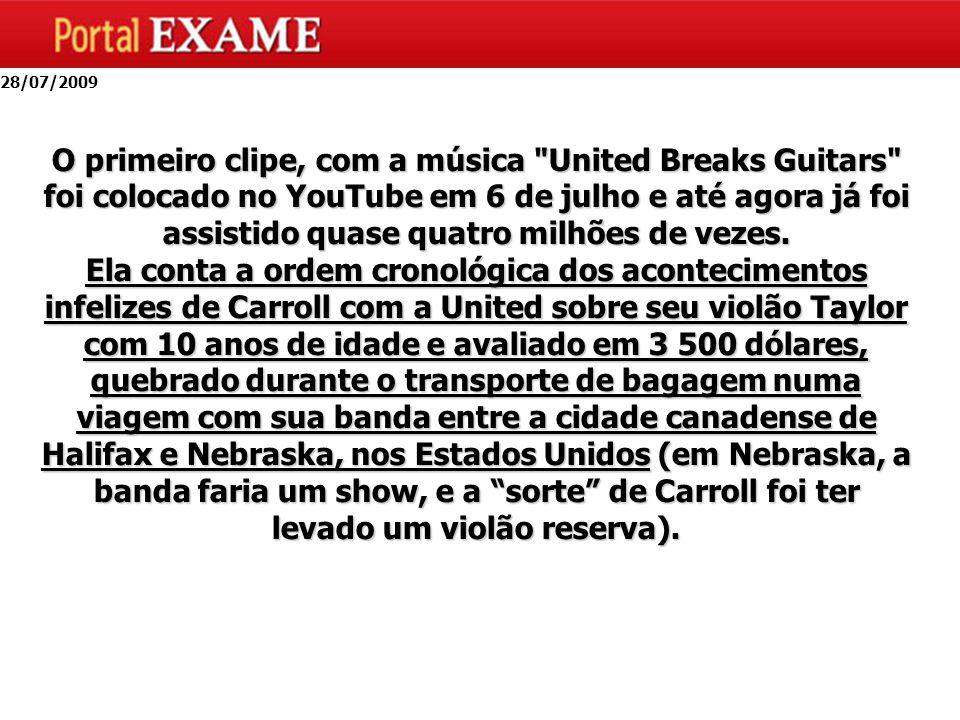 O primeiro clipe, com a música United Breaks Guitars foi colocado no YouTube em 6 de julho e até agora já foi assistido quase quatro milhões de vezes.