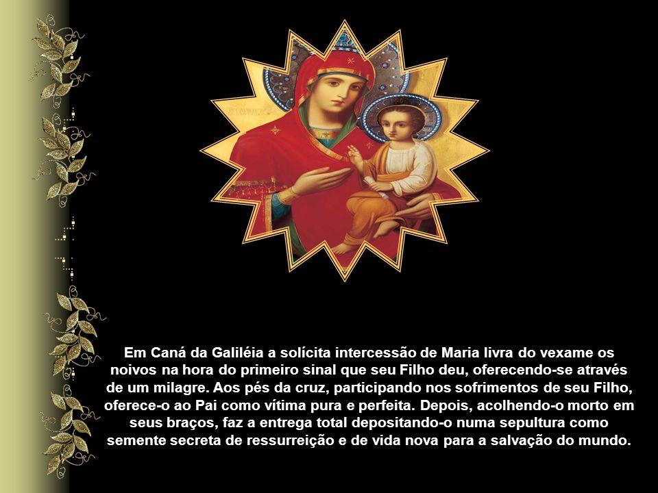 Ela viveu este espírito eucarístico antes que o Sacramento da Eucaristia fosse instituído por Jesus, isto pelo fato de ter oferecido seu seio virginal