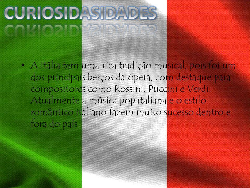 A Itália tem uma rica tradição musical, pois foi um dos principais berços da ópera, com destaque para compositores como Rossini, Puccini e Verdi. Atua