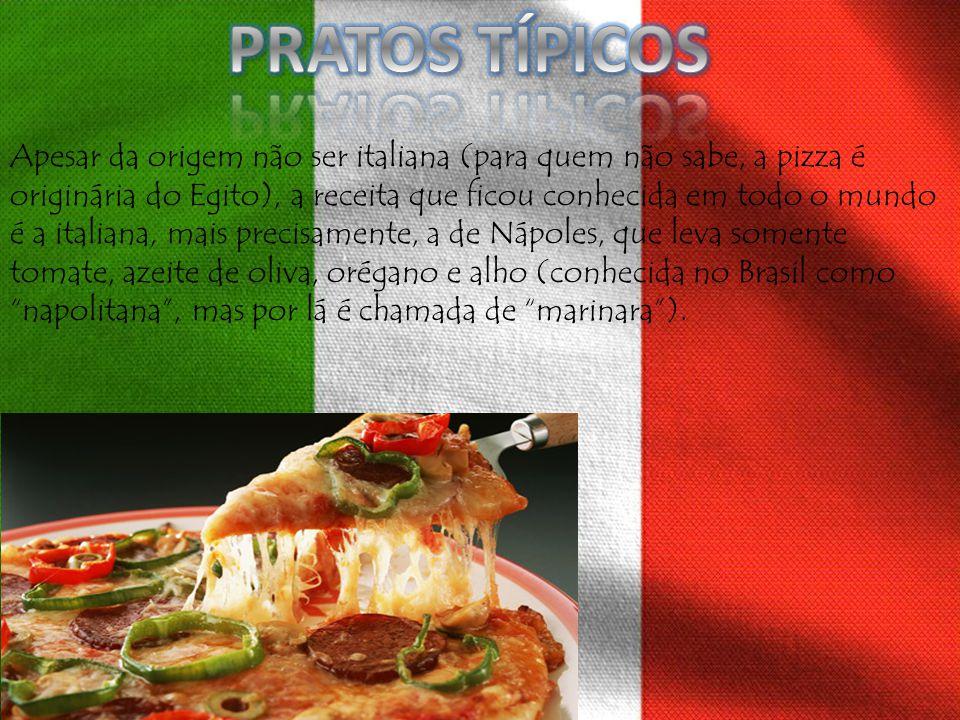 Apesar da origem não ser italiana (para quem não sabe, a pizza é originária do Egito), a receita que ficou conhecida em todo o mundo é a italiana, mai