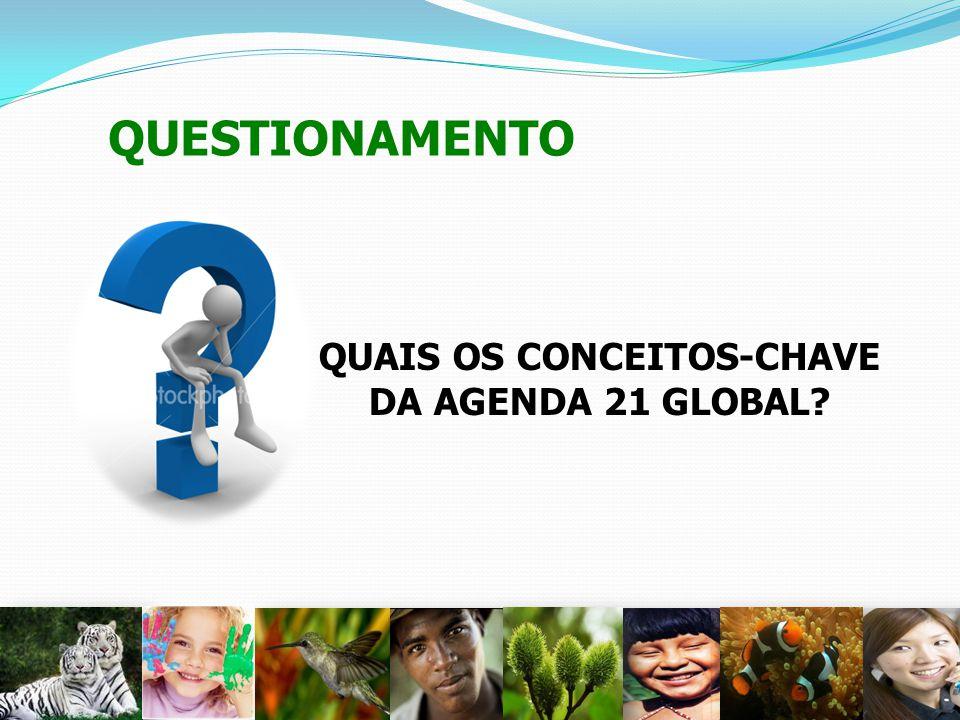 QUESTIONAMENTO QUAIS OS CONCEITOS-CHAVE DA AGENDA 21 GLOBAL? 25