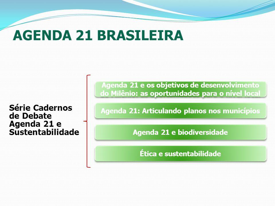 AGENDA 21 BRASILEIRA Série Cadernos de Debate Agenda 21 e Sustentabilidade Agenda 21 e os objetivos de desenvolvimento do Milênio: as oportunidades pa