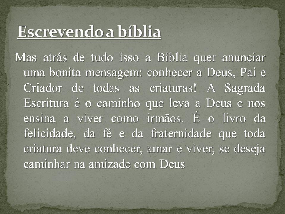A palavra Bíblia vem da língua grega e significa livros.