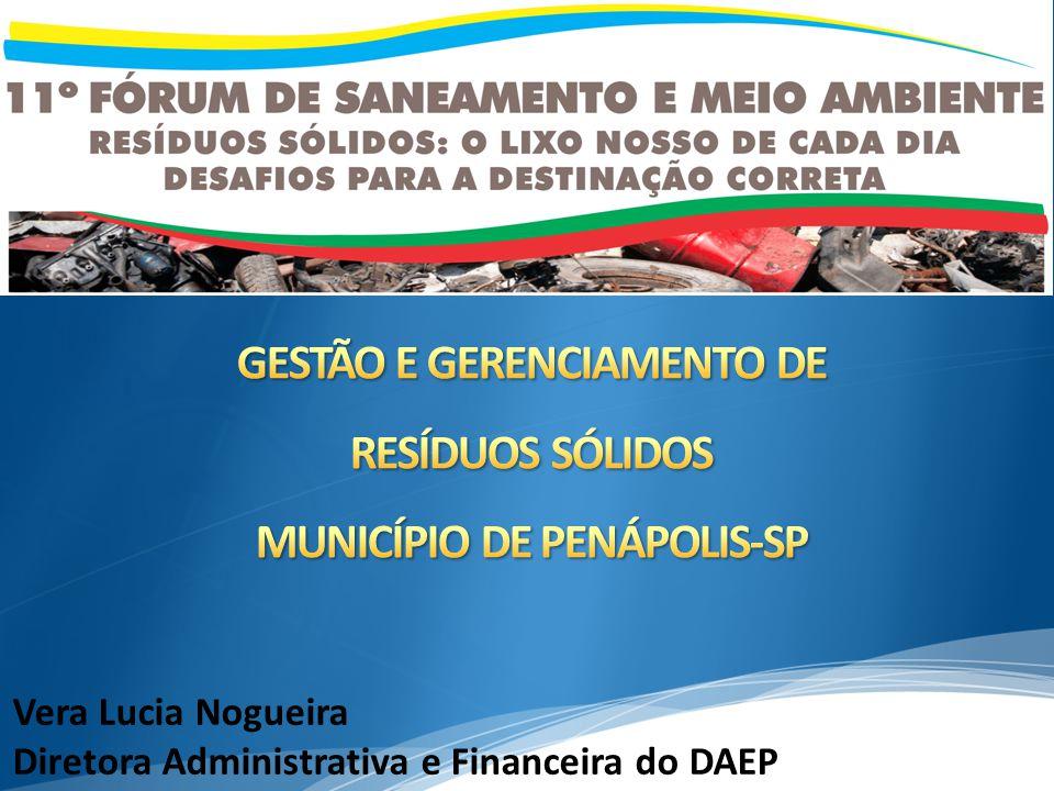 Vera Lucia Nogueira Diretora Administrativa e Financeira do DAEP