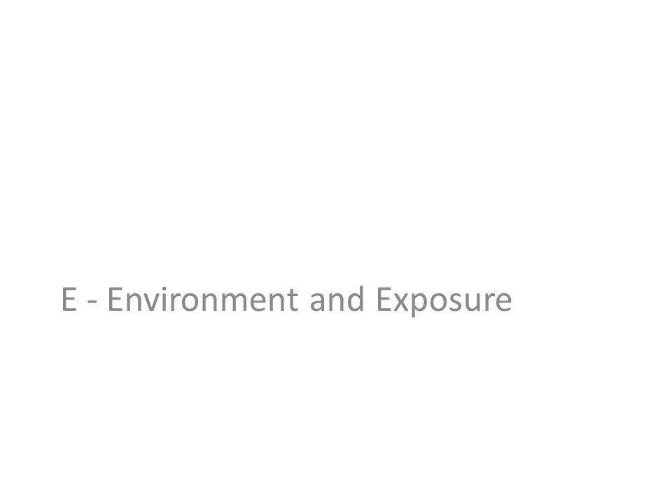 E - Environment and Exposure