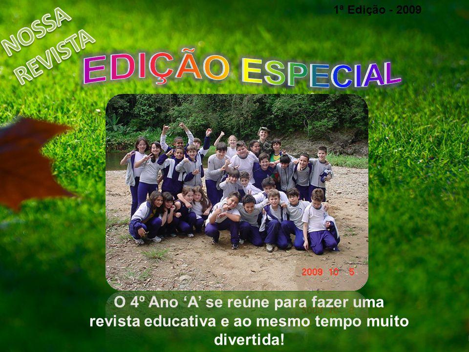 O 4º Ano A se reúne para fazer uma revista educativa e ao mesmo tempo muito divertida! 1ª Edição - 2009