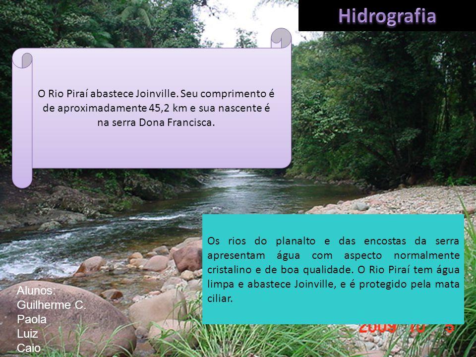 O Rio Piraí abastece Joinville. Seu comprimento é de aproximadamente 45,2 km e sua nascente é na serra Dona Francisca. Os rios do planalto e das encos