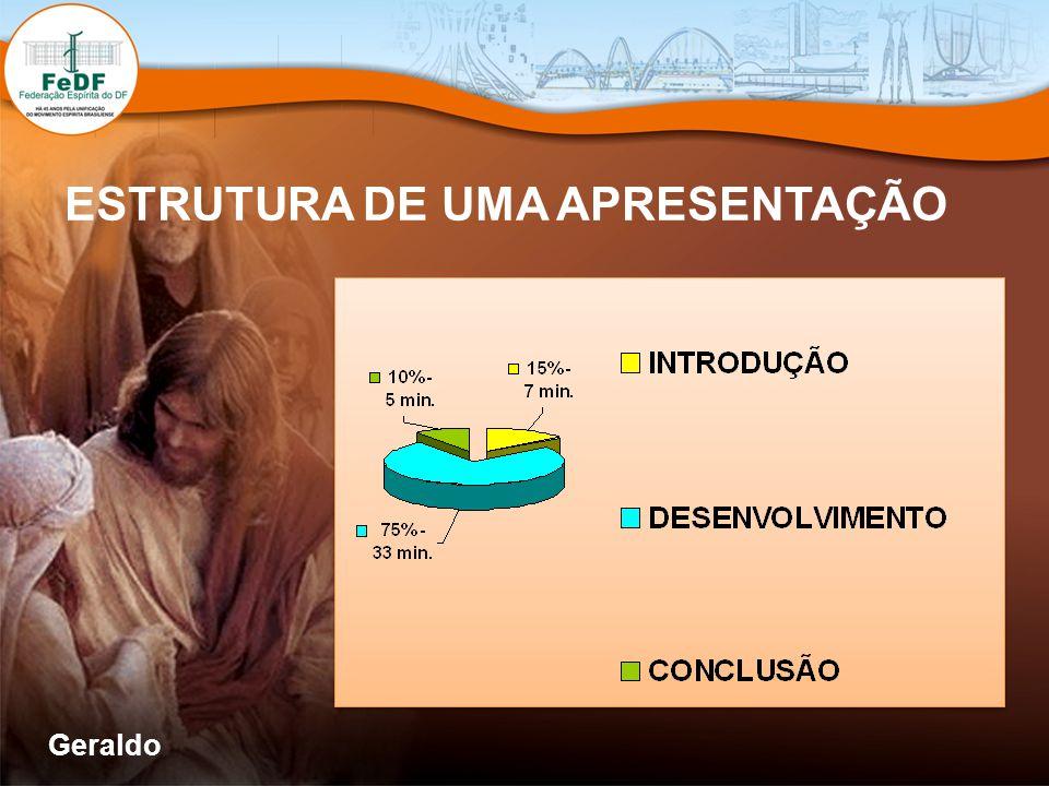 ESTRUTURA DE UMA APRESENTAÇÃO Geraldo