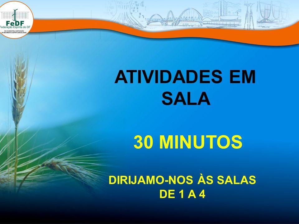 ATIVIDADES EM SALA 30 MINUTOS DIRIJAMO-NOS ÀS SALAS DE 1 A 4