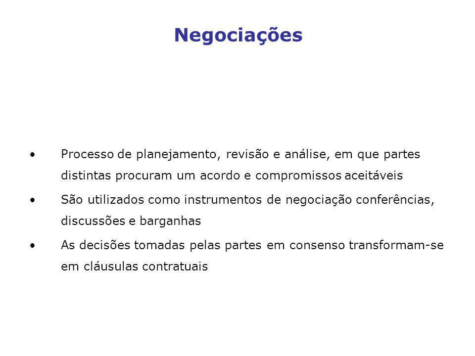 Processo de planejamento, revisão e análise, em que partes distintas procuram um acordo e compromissos aceitáveis São utilizados como instrumentos de
