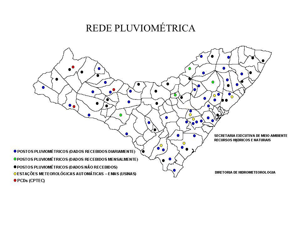 PRECIPITAÇÃO OBSERVADA (mm) – MARÇO / 2005 SECRETARIA COORDENADORADA DE SAÚDE E BEM ESTAR SOCIAL SECRETARIA EXECUTIVA DE MEIO AMBIENTE E RECURSOS HÍDRICOS E NATURAIS DIRETORIA DE HIDROMETEOROLOGIA - DHM