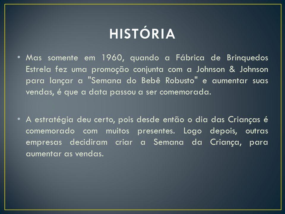 Mas somente em 1960, quando a Fábrica de Brinquedos Estrela fez uma promoção conjunta com a Johnson & Johnson para lançar a