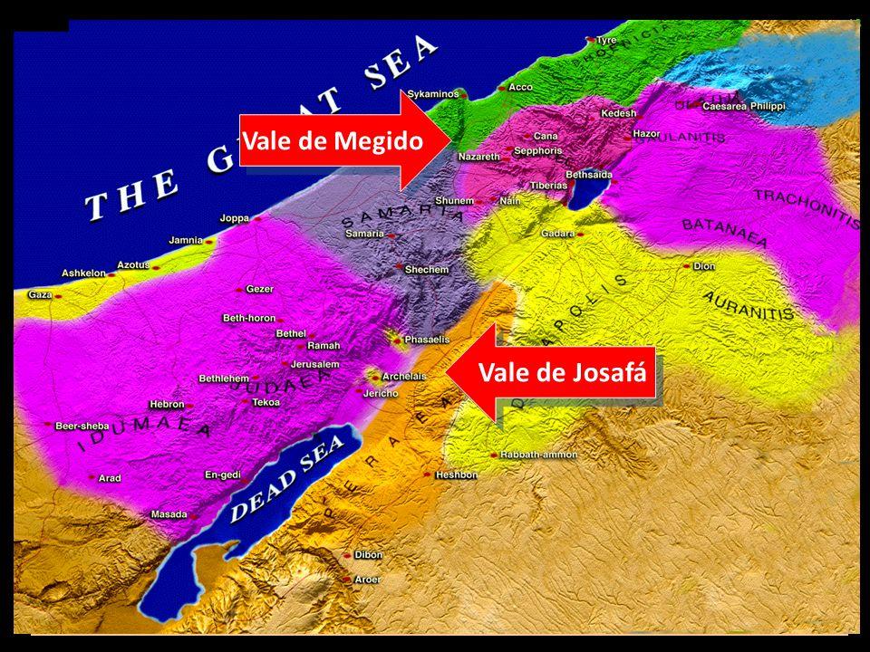 Eventos Futuros Última guerra mundial; campanha de Armagedom – Dn 11.36-45 – Ap 16 – Jl 3 – Zc 14 13 Vale de Megido Vale de Josafá