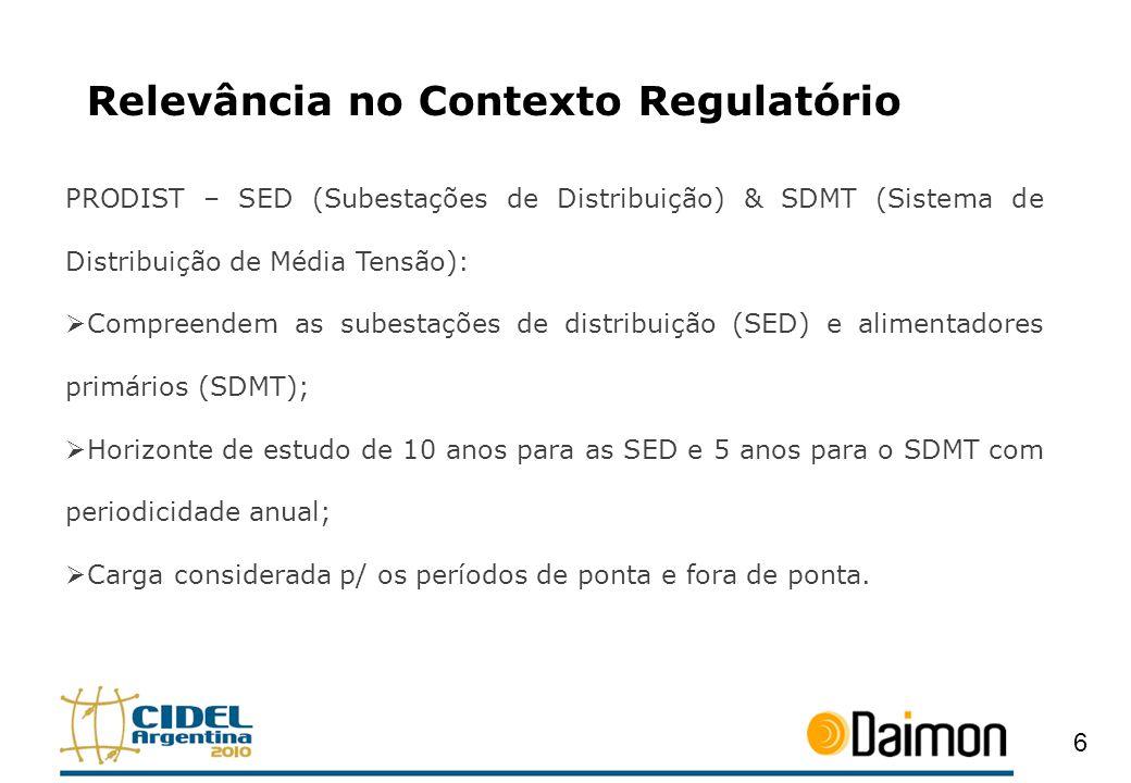 Relevância no Contexto Regulatório PRODIST – SED (Subestações de Distribuição) & SDMT (Sistema de Distribuição de Média Tensão): Compreendem as subest