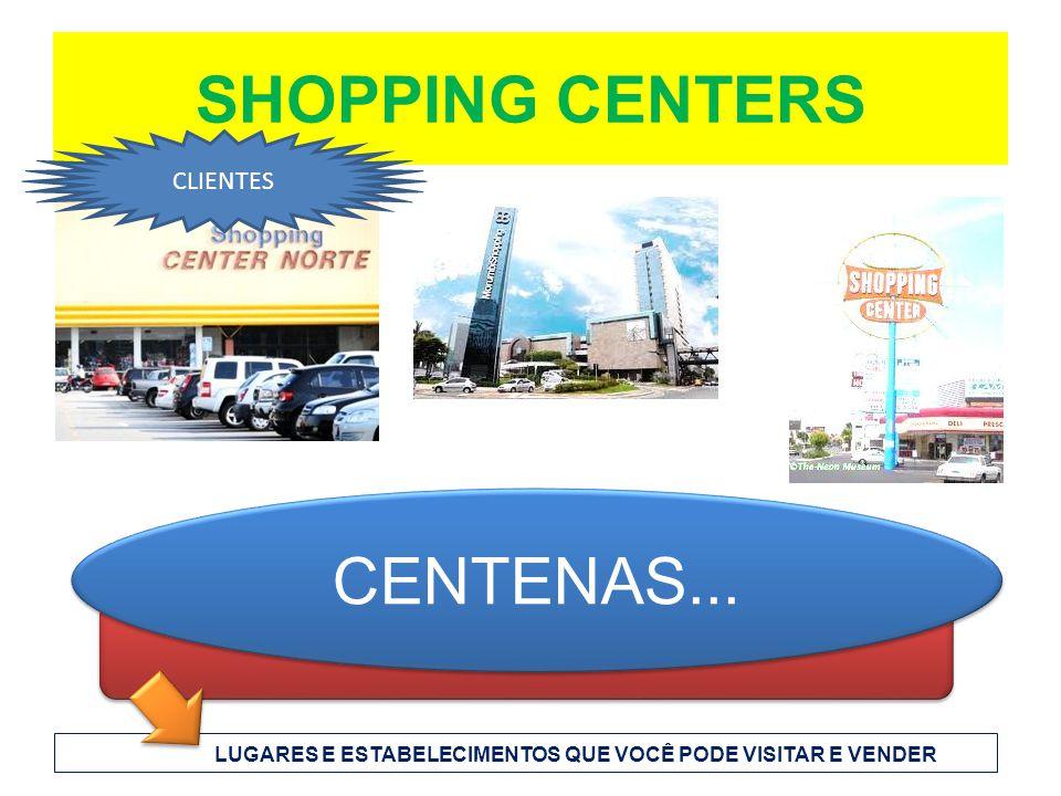 SHOPPING CENTERS CENTENAS... LUGARES E ESTABELECIMENTOS QUE VOCÊ PODE VISITAR E VENDER CLIENTES