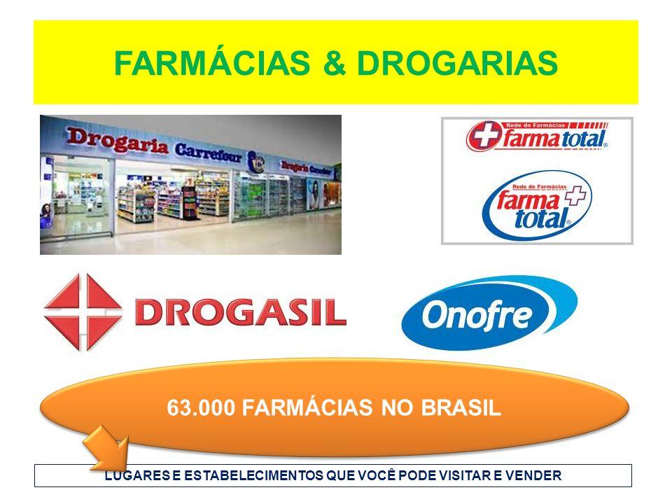 FARMÁCIAS & DROGARIAS 63.000 FARMÁCIAS NO BRASIL LUGARES E ESTABELECIMENTOS QUE VOCÊ PODE VISITAR E VENDER