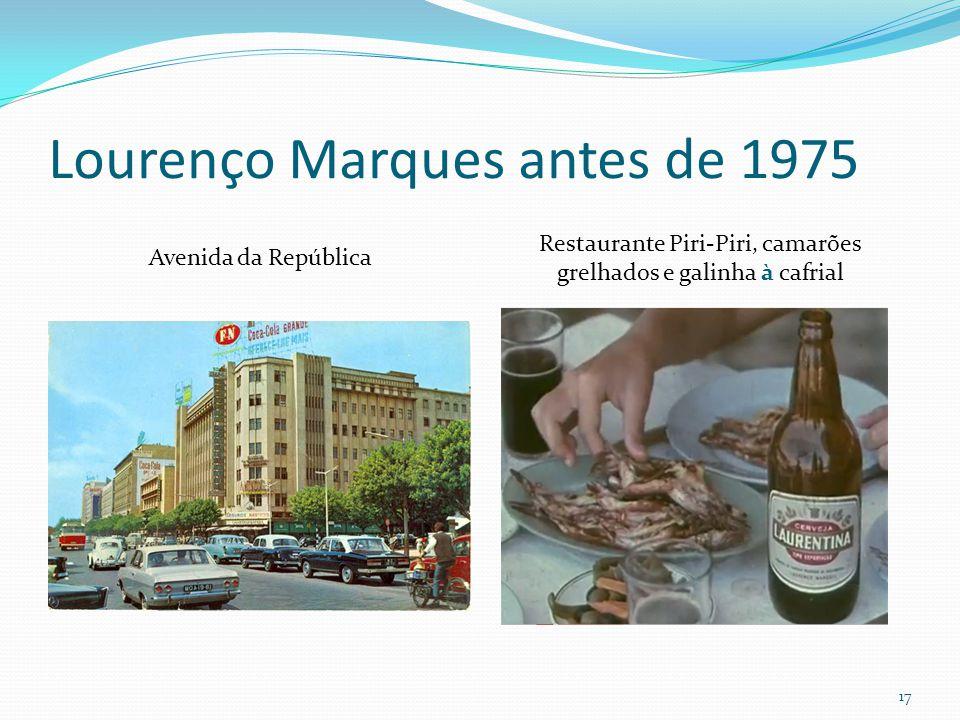 Lourenço Marques antes de 1975 Avenida da República Restaurante Piri-Piri, camarões grelhados e galinha à cafrial 17