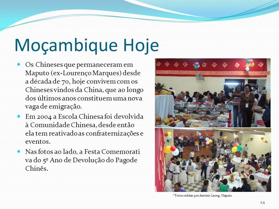 Moçambique Hoje Os Chineses que permaneceram em Maputo (ex-Lourenço Marques) desde a década de 70, hoje convivem com os Chineses vindos da China, que