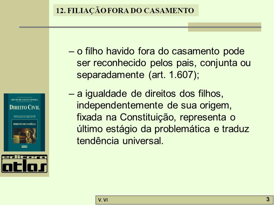 12.FILIAÇÃO FORA DO CASAMENTO V. VI 4 4 12.2.