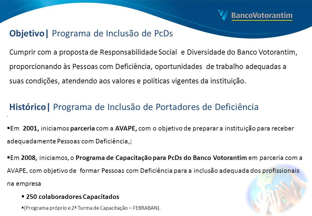 Cumprir com a proposta de Responsabilidade Social e Diversidade do Banco Votorantim, proporcionando às Pessoas com Deficiência, oportunidades de traba