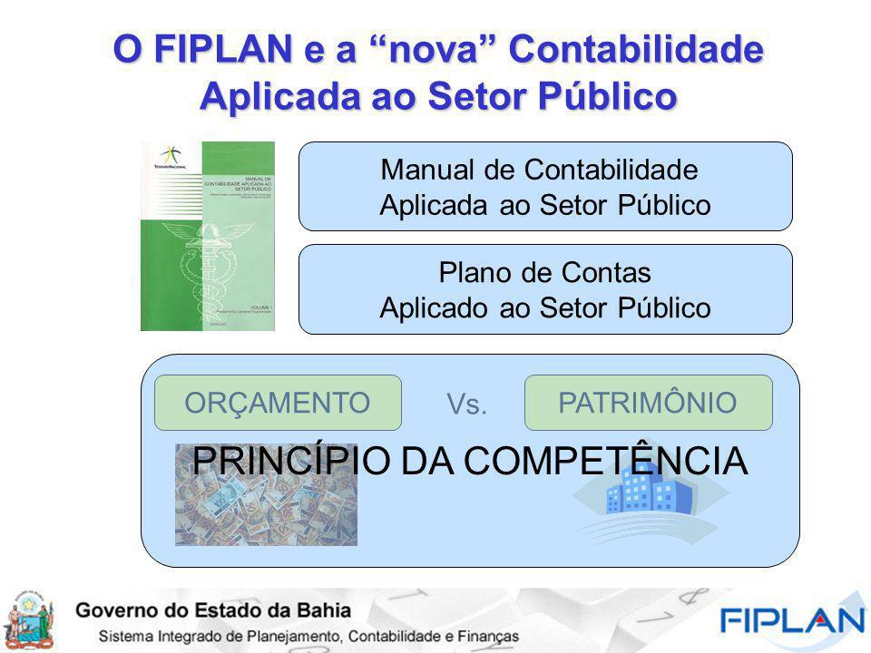 O FIPLAN e a nova Contabilidade Aplicada ao Setor Público Manual de Contabilidade Aplicada ao Setor Público Plano de Contas Aplicado ao Setor Público