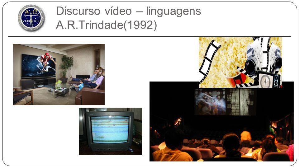 Discurso vídeo LinguagensSuportesDocumentos - cinema do real - animação - televisão - vídeo - Película filme - Discos ópticos - Fita magnética - Filme - Videograma - Documentário TV - Documentos de TV