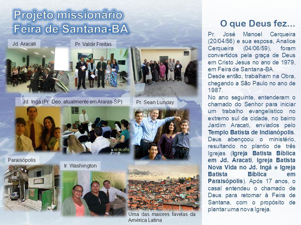 Jd.Aracati Pr. Valdir Freitas Jd. Ingá (Pr. Deo, atualmente em Araras-SP) Pr.