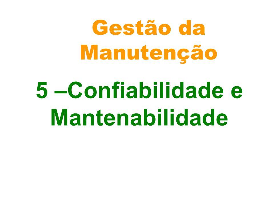 Gestão da Manutenção 5 –Confiabilidade e Mantenabilidade
