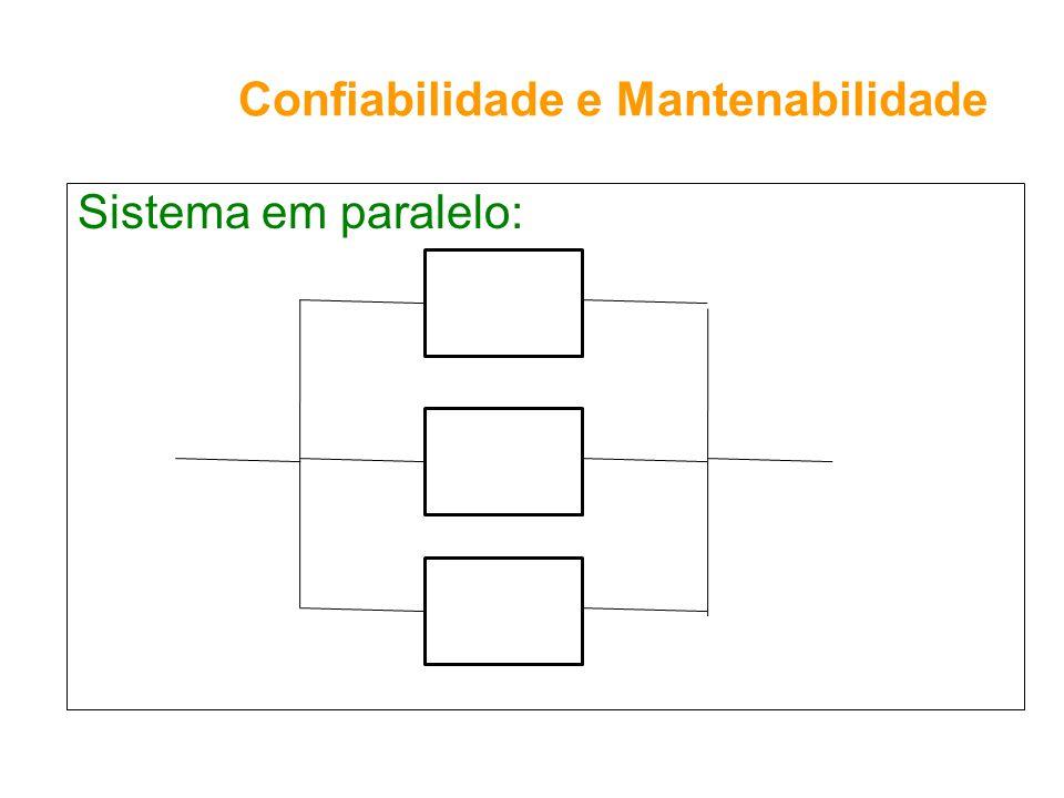 Confiabilidade e Mantenabilidade Sistema em paralelo: