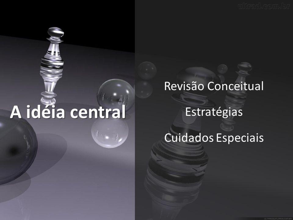 A idéia central Revisão Conceitual Estratégias Cuidados Especiais