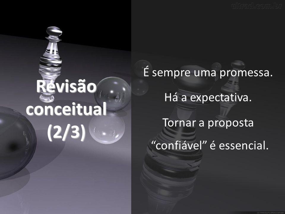 Revisão conceitual (2/3) É sempre uma promessa.Há a expectativa.