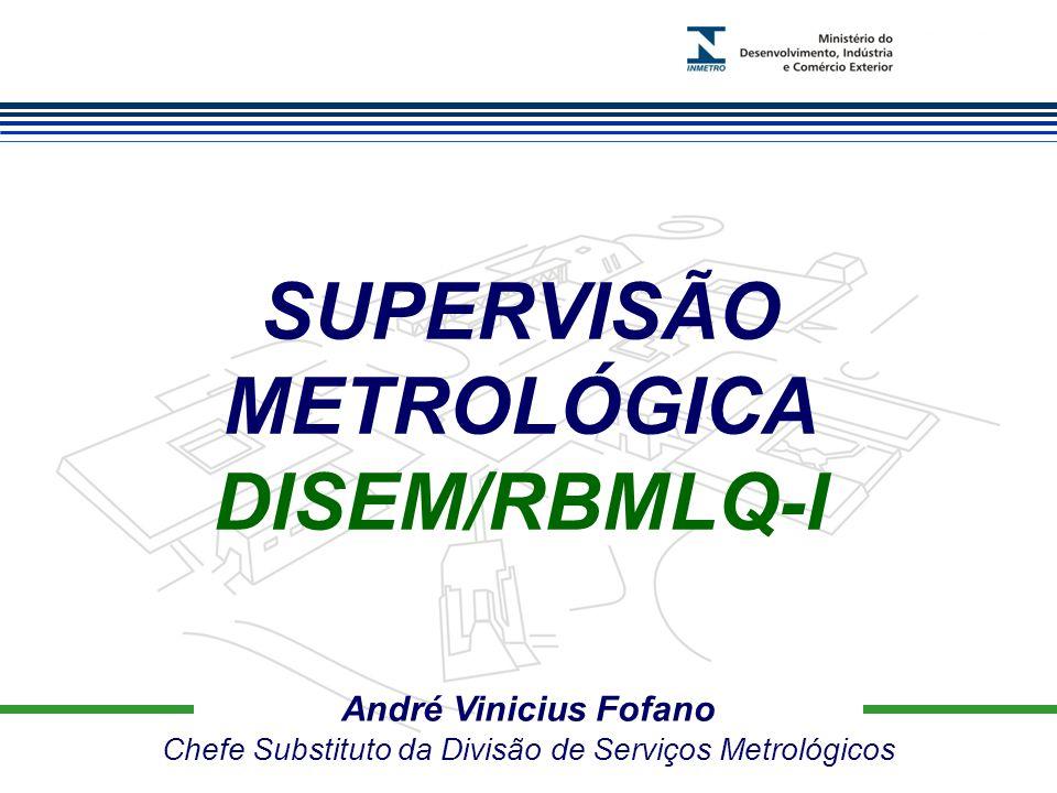 Marca do evento André Vinicius Fofano Chefe Substituto da Divisão de Serviços Metrológicos SUPERVISÃO METROLÓGICA DISEM/RBMLQ-I