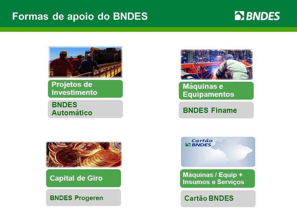 Mais BNDES Passo 1: Escolha seu perfil ou área de atuação