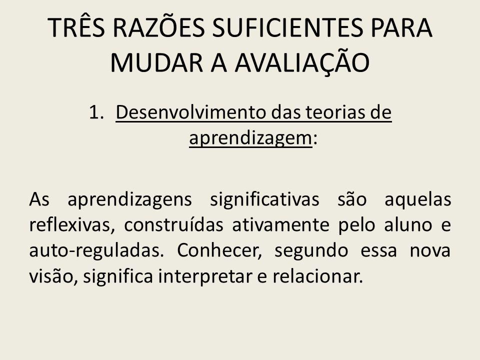 TRÊS RAZÕES SUFICIENTES PARA MUDAR A AVALIAÇÃO 2.
