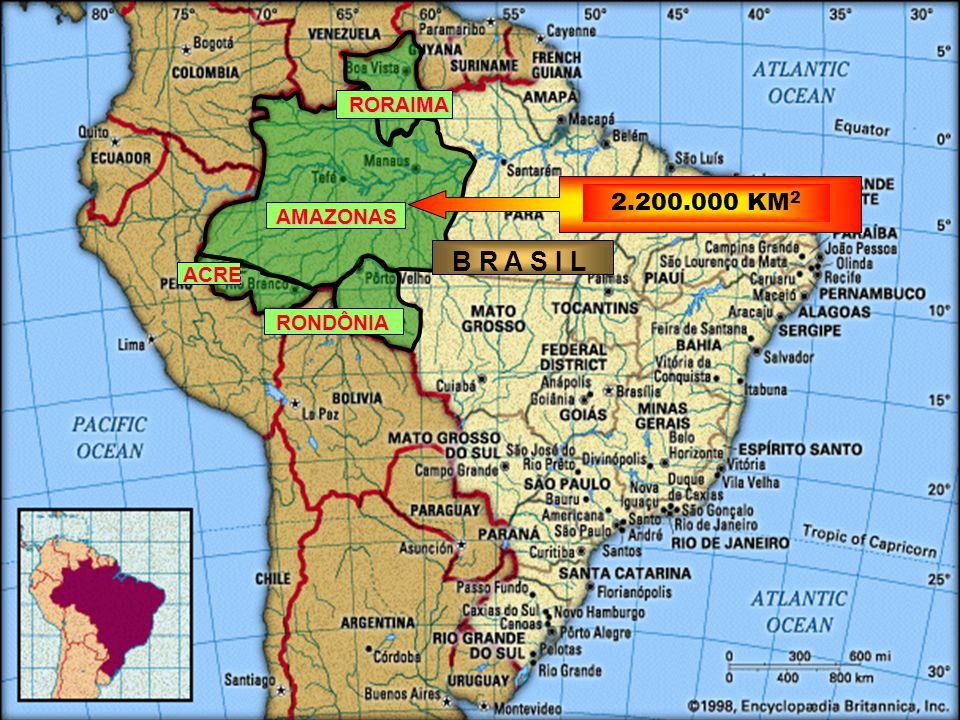 B R A S I L AMAZONAS RORAIMA RONDÔNIA ACRE 2.200.000 KM 2