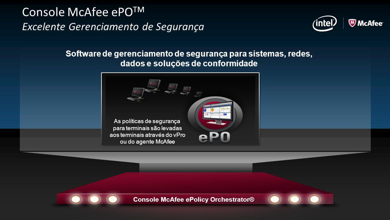 Console McAfee ePO TM Excelente Gerenciamento de Segurança Software de gerenciamento de segurança para sistemas, redes, dados e soluções de conformida