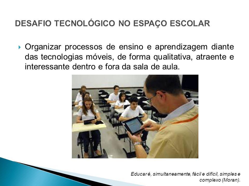 Organizar processos de ensino e aprendizagem diante das tecnologias móveis, de forma qualitativa, atraente e interessante dentro e fora da sala de aula.