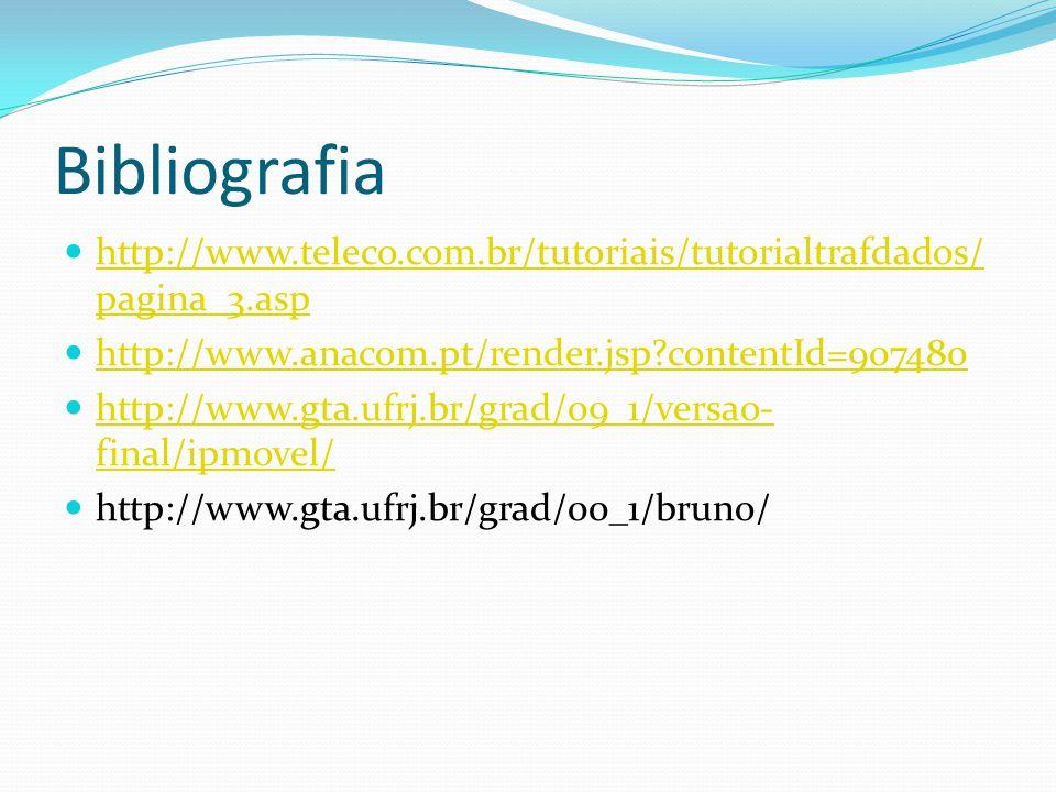 Bibliografia http://www.teleco.com.br/tutoriais/tutorialtrafdados/ pagina_3.asp http://www.teleco.com.br/tutoriais/tutorialtrafdados/ pagina_3.asp htt