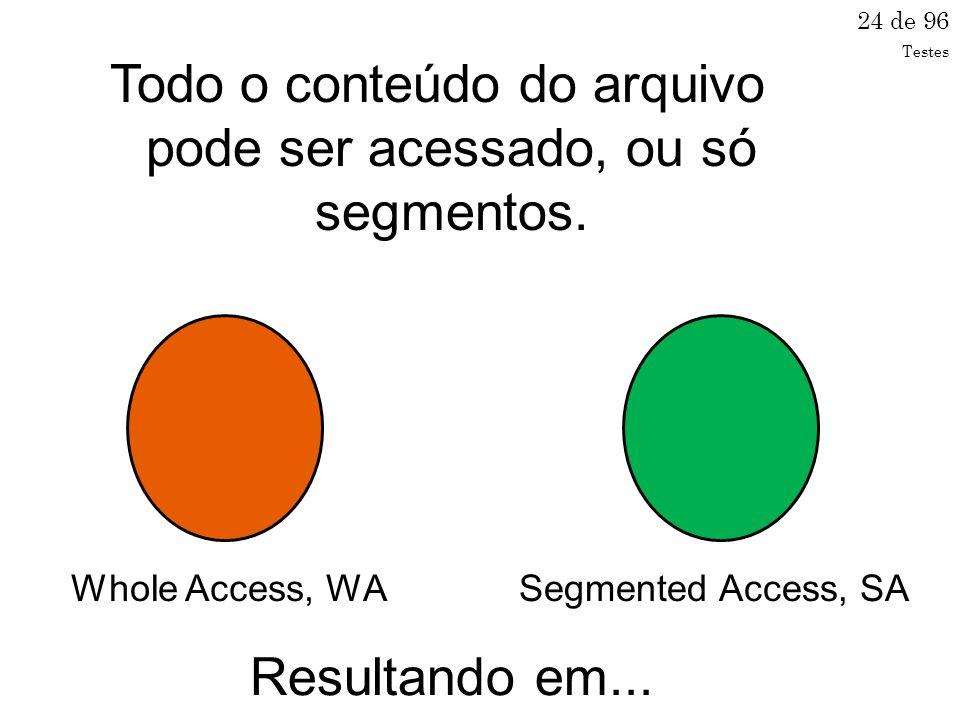 Todo o conteúdo do arquivo pode ser acessado, ou só segmentos.