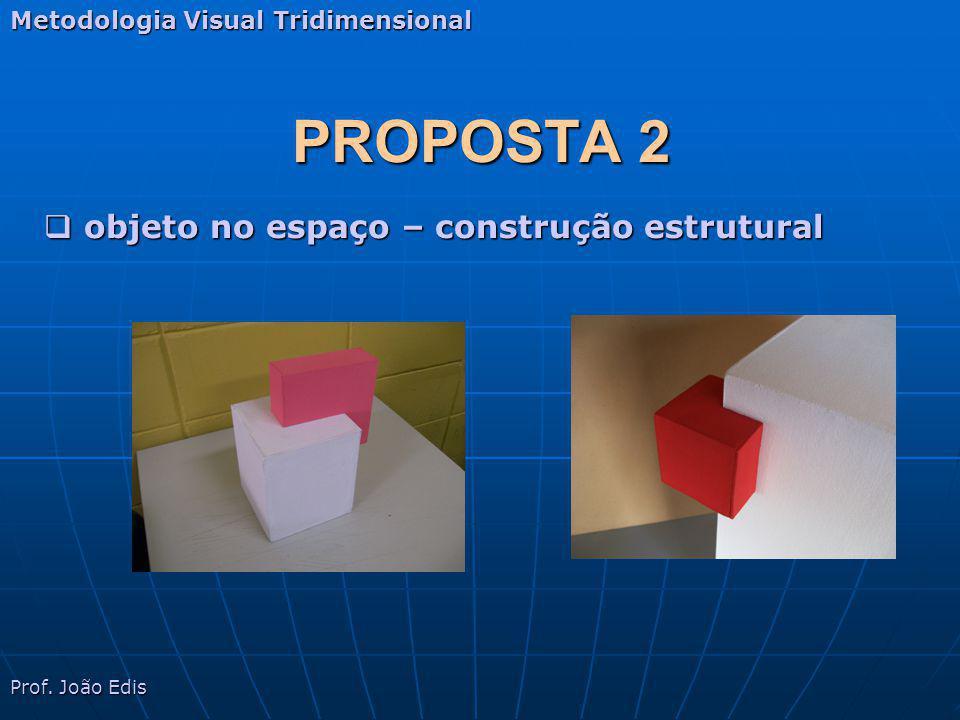PROPOSTA 2 Metodologia Visual Tridimensional Prof. João Edis objeto no espaço – construção estrutural objeto no espaço – construção estrutural