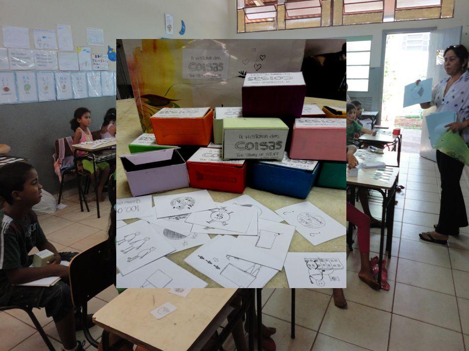 2012 - Aprofundar mais na legislação, conhecer a política nacional de educação ambiental e ver como que a escola poderia se organizar pra ela oferecer essas atividades de EA que atingisse todas as escolas.