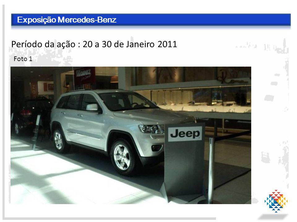 Exposição Mercedes-Benz Período da ação : 20 a 30 de Janeiro 2011 Foto 1