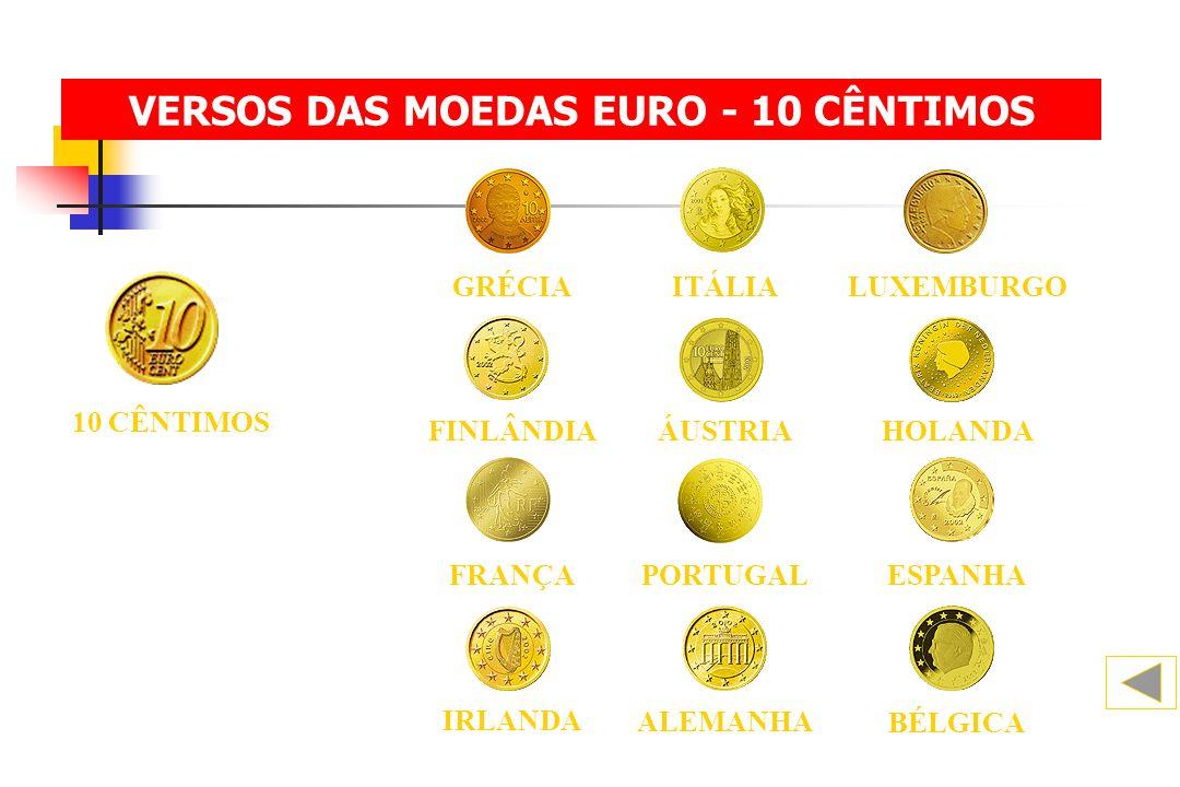10 CÊNTIMOS BÉLGICA ALEMANHA IRLANDA FINLÂNDIAHOLANDAÁUSTRIA ESPANHA FRANÇAPORTUGAL ITÁLIALUXEMBURGOGRÉCIA VERSOS DAS MOEDAS EURO - 10 CÊNTIMOS
