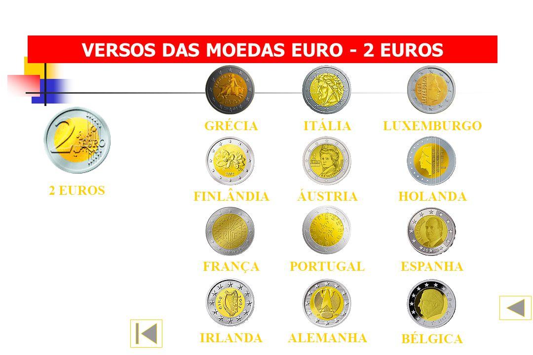 2 EUROS BÉLGICA ALEMANHA IRLANDA FINLÂNDIAHOLANDAÁUSTRIA ESPANHA FRANÇAPORTUGAL ITÁLIALUXEMBURGOGRÉCIA VERSOS DAS MOEDAS EURO - 2 EUROS