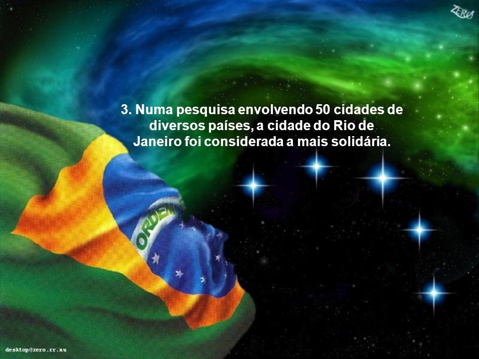 2. O Brasil é o único país do hemisfério sul que está participando do Projeto Genoma.