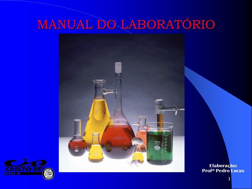 1 MANUAL DO LABORATÓRIO Elaboração: Profº Pedro Lucas