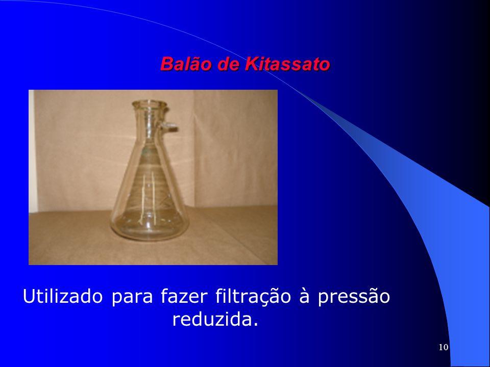 10 Balão de Kitassato Utilizado para fazer filtração à pressão reduzida.