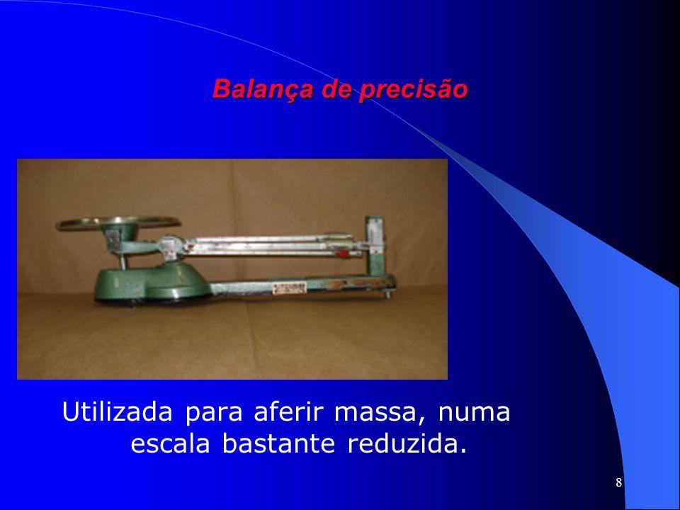 8 Balança de precisão Utilizada para aferir massa, numa escala bastante reduzida.