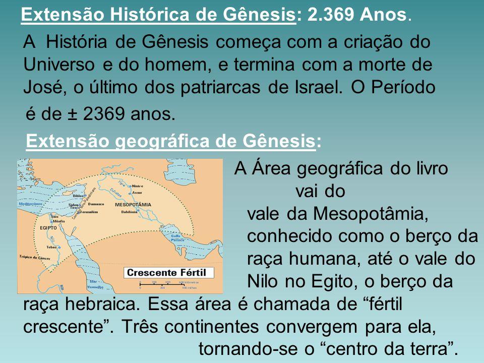 Extensão Histórica de Gênesis: 2.369 Anos.