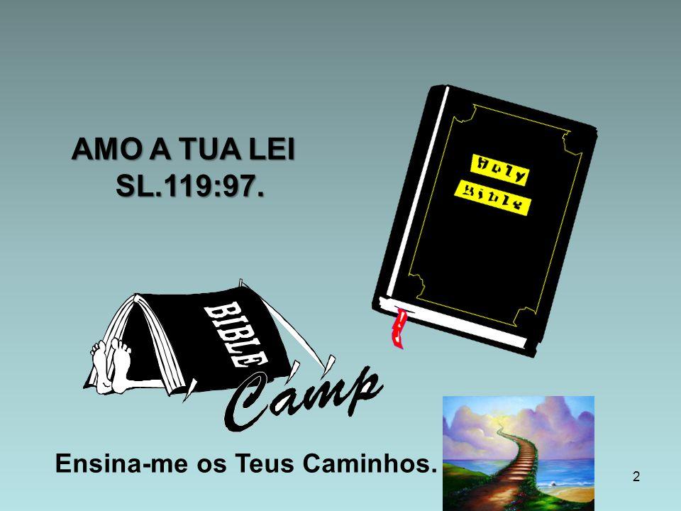 Ensina-me os Teus Caminhos. 2 AMO A TUA LEI SL.119:97. AMO A TUA LEI SL.119:97.